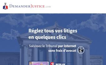 Capture d'écran du site Demanderjustice.com