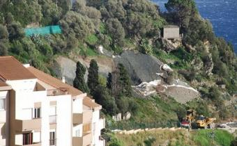 Le chantier Mandevilla dans le quartier de l'Annonciade à Bastia, septembre 2012.