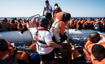 L'Aquarius, 11 sept. 2016. Photo Marco Panzetti/SOS Méditerranée.