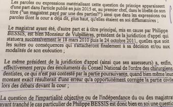 Extrait arrêt cour d'appel de Lyon, 13 déc. 2016.