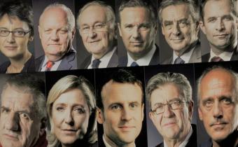Les onze candidats à l'élection présidentielle. Photomontage.