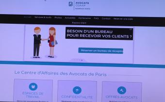 Site du Centre d'affaires des avocats de Paris (CDAAP). Capture d'écran.