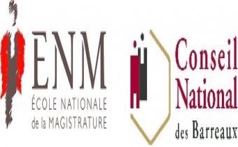 Conseil national des barreaux et l'École nationale de la magistrature