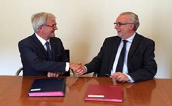 Pascal Eydoux et Bernard Baujet. Photo CNB.