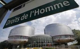 Cour européenne des droits de l'homme à Strasbourg.