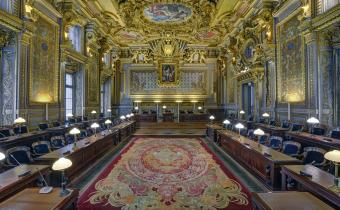 Grand'chambre de la Cour de cassation. Photo Arnaud Chicurel.