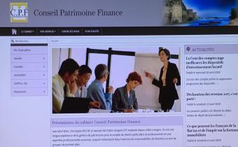 Site de la société Conseil Patrimoine Finance. Capture d'écran.