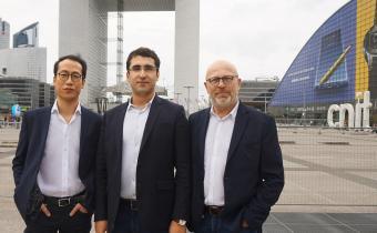 De g. à dr., Eric Chau, Mehdi Chouiten et Jean-Michel Peretz, fondateurs de Datategy.