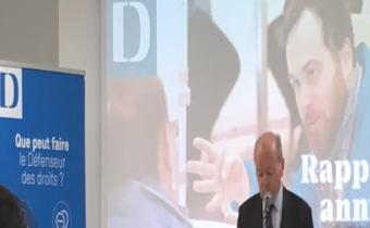 Le Défenseur des droits, présentation du rapport annuel 2017. Photo LexTimes.