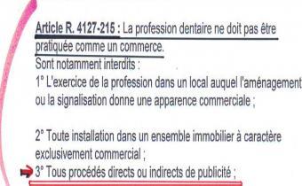 Code de déontologie des chirurgiens-dentistes, art. R. 4127-215.