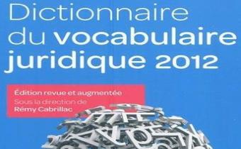Dictionnaire de vocabulaire juridique LexisNexis 2020