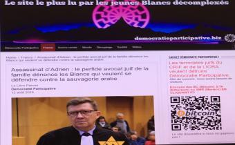 Assassinat d'Adrien : Le perfide avocat juif, Democratieparticipative.biz, 12 août 2018. Capture d'écran.