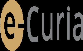 e-curia, l'application permettant l'échange d'actes de procédure avec les greffes des Tribunal et Cour de l'Union européenne.