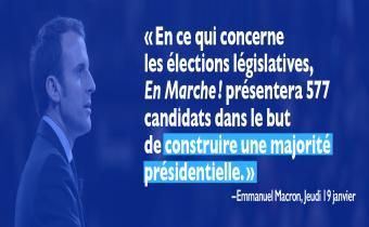 Emmanuel Macron recrute pour les législatives 2017.