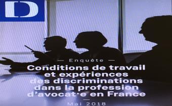 Enquête du Défenseur des droits sur les conditions de travail et expériences des discriminations dans la profession d'avocat en France.