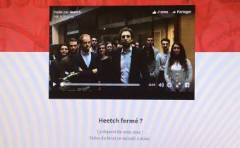 Suspension ou fermeture du site Heetch, 3 mars 2017. Capture d'écran.