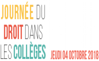 Journée du droit dans les collèges le 4 octobre 2018