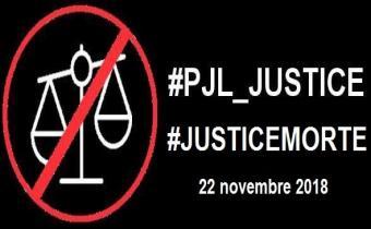 """Journée """"justice morte"""" le 22 novembre 2018."""