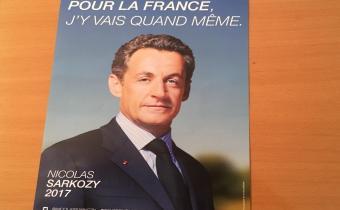 Tract appelant Nicolas Sarkozy à y aller quand même, 29 nov. 2016.