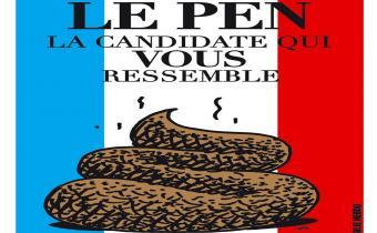 Affiche Charlie Hebdo, 4 janv. 2012.
