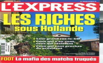Une de l'Express du 6 juin 2012