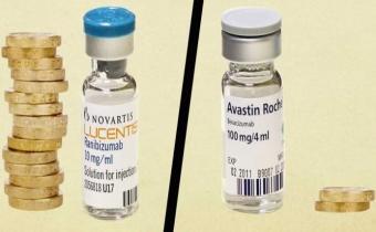 Le Lucentis de Novartis et l'Avastin de Roche pour le traitement de la DMLA.