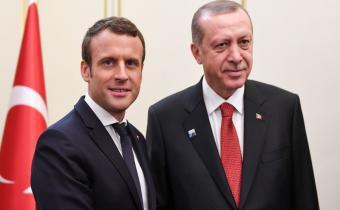 Emmanuel Macron et Recep Tayyip Erdoğan.