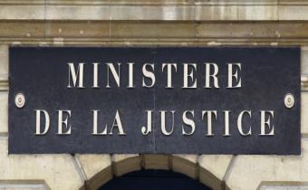 Ministère de la justice, place Vendôme à Paris.