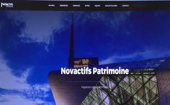 Novactifs (ex-Ageo) Patrimoine. Capture d'écran.