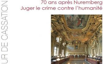 Couverture colloque 70 ans après Nuremberg, Juger le crime contre l'humanité