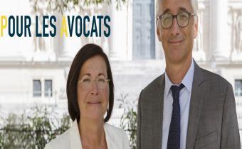 Marie-Aimée Peyron et Basile Ader. Photo de campagne.