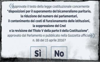 Référendum en Italie, 4 déc. 2016.