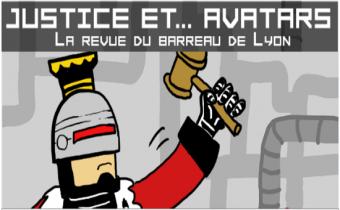 Affiche de la Revue du barreau de Lyon.