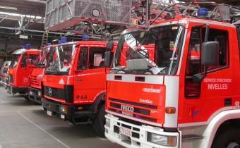 Sapeurs-pompiers de Nivelles, en Belgique.