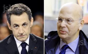 Nicolas Sarkozy (G) et Patrick Buisson (D).