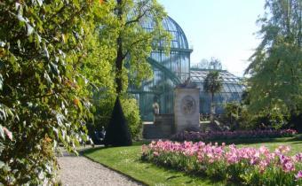 Jardin des serres d'Auteuil, dans le bois de Boulogne à Paris.