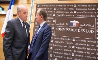 Jacques Toubon (G) et Jean-Jacques Urvoas (D).