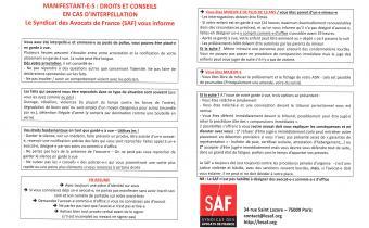 Tract du SAF.