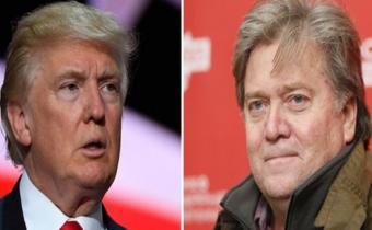 Donald Trump et Steve Bannon. Photomontage.