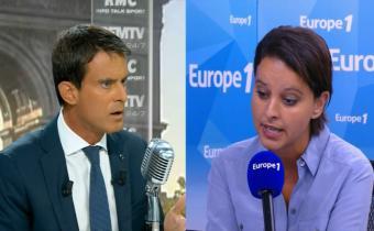 Manuel Valls (G) et Najat Vallaud-Belkacem.