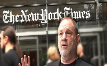 Harvey Weinstein devant le New York Times
