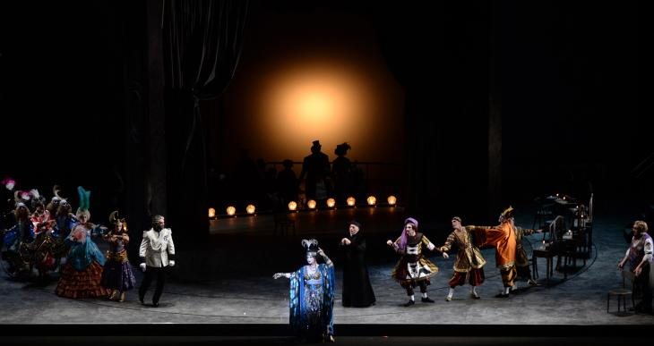 Adriana Lecouvreur, à l'Opéra de Monte-Carlo. Photo Alain Hanel/OMC.
