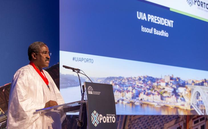 Bâtonnier Issouf Baadhio, Porto, 2 nov. 2018.. Photo UIA.