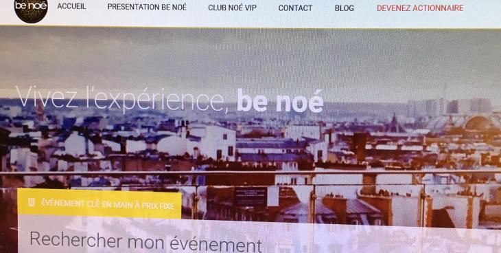 Benoe.fr, le site événementiel de la société Élephants & Co. Capture d'écran.