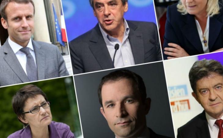 Candidats à l'élection présidentielle 2017.