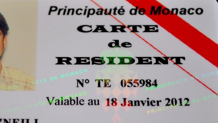 Carte résident monégasque