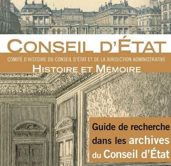 Guiide de recherche dans les archives du Conseil d'État