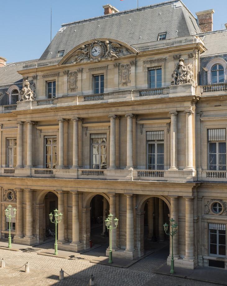 Conseil d'État, cour de l'Horloge. Photo DR.