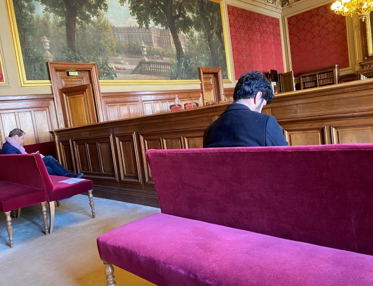 Conseil d'État, salle des référés, 26 mars 2020. Photo Alfredo Allegra.