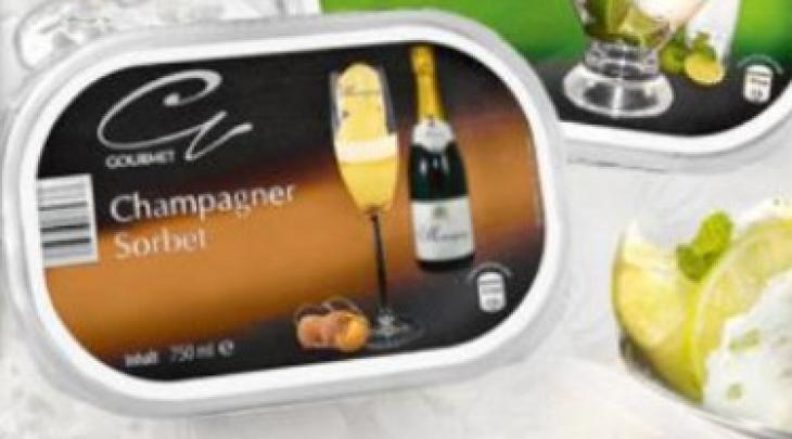 Champagner Sorbet d'Aldi